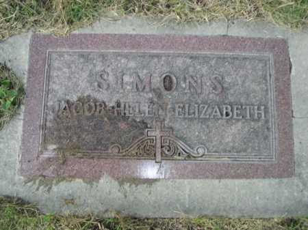 SIMONS, ELIZABETH - Dawes County, Nebraska | ELIZABETH SIMONS - Nebraska Gravestone Photos