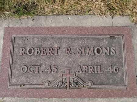 SIMONS, ROBERT R. - Dawes County, Nebraska   ROBERT R. SIMONS - Nebraska Gravestone Photos