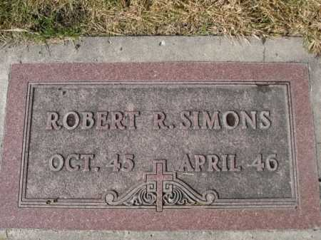 SIMONS, ROBERT R. - Dawes County, Nebraska | ROBERT R. SIMONS - Nebraska Gravestone Photos