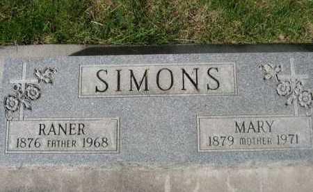 SIMONS, RANER - Dawes County, Nebraska | RANER SIMONS - Nebraska Gravestone Photos