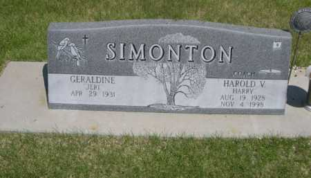 "SIMONTON, HAROLD V. ""HARRY""  COACH - Dawes County, Nebraska 