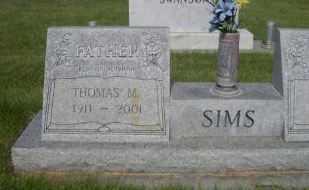 SIMS, THOMAS M. - Dawes County, Nebraska | THOMAS M. SIMS - Nebraska Gravestone Photos