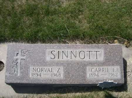 SINNOTT, CARRIE F. - Dawes County, Nebraska | CARRIE F. SINNOTT - Nebraska Gravestone Photos