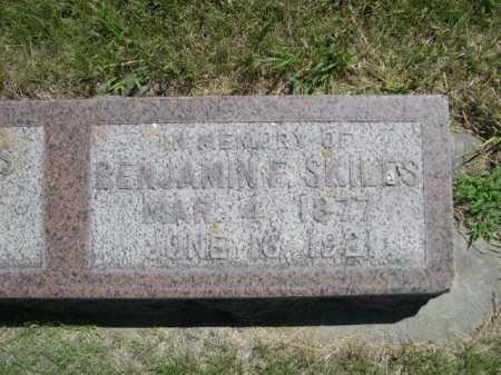 SKILES, BENJAMIN F. - Dawes County, Nebraska | BENJAMIN F. SKILES - Nebraska Gravestone Photos
