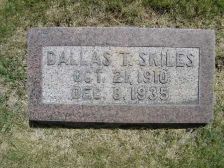 SKILES, DALLAS T. - Dawes County, Nebraska | DALLAS T. SKILES - Nebraska Gravestone Photos