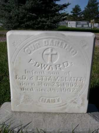 SLATER, EDWARD - Dawes County, Nebraska | EDWARD SLATER - Nebraska Gravestone Photos