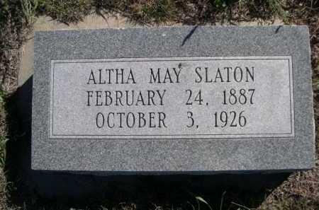 SLATON, ALTHA MAY - Dawes County, Nebraska | ALTHA MAY SLATON - Nebraska Gravestone Photos