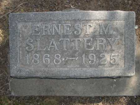 SLATTERY, ERNEST M. - Dawes County, Nebraska | ERNEST M. SLATTERY - Nebraska Gravestone Photos