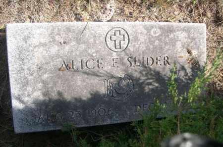 SLIDER, ALICE - Dawes County, Nebraska | ALICE SLIDER - Nebraska Gravestone Photos