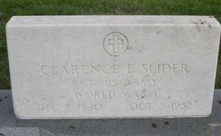 SLIDER, CLARENCE E. - Dawes County, Nebraska | CLARENCE E. SLIDER - Nebraska Gravestone Photos