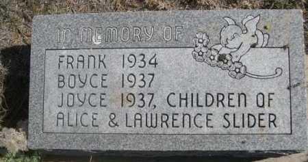 SLIDER, FRANK - Dawes County, Nebraska   FRANK SLIDER - Nebraska Gravestone Photos