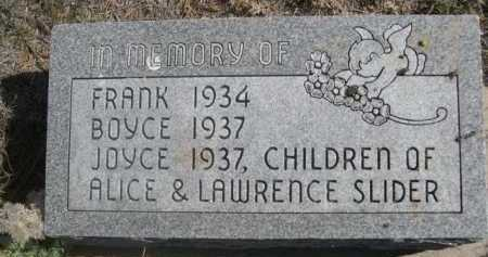 SLIDER, BOYCE - Dawes County, Nebraska | BOYCE SLIDER - Nebraska Gravestone Photos