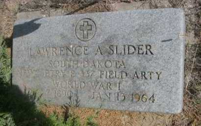 SLIDER, LAWRENCE A. - Dawes County, Nebraska | LAWRENCE A. SLIDER - Nebraska Gravestone Photos