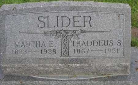 SLIDER, MARTHA E. - Dawes County, Nebraska | MARTHA E. SLIDER - Nebraska Gravestone Photos