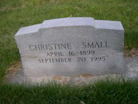 SMALL, CHRISTINE - Dawes County, Nebraska | CHRISTINE SMALL - Nebraska Gravestone Photos