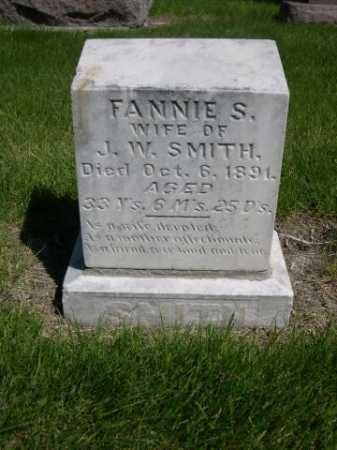 SMITH, FANNIE S. - Dawes County, Nebraska | FANNIE S. SMITH - Nebraska Gravestone Photos