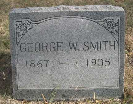 SMITH, GEORGE W. - Dawes County, Nebraska | GEORGE W. SMITH - Nebraska Gravestone Photos