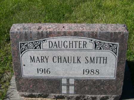 SMITH, MARY CHAULK - Dawes County, Nebraska | MARY CHAULK SMITH - Nebraska Gravestone Photos