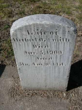 SMITH, WIFE OF HERBERT O. - Dawes County, Nebraska | WIFE OF HERBERT O. SMITH - Nebraska Gravestone Photos