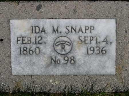 SNAPP, IDA M. - Dawes County, Nebraska | IDA M. SNAPP - Nebraska Gravestone Photos