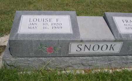 SNOOK, LOUISE F. - Dawes County, Nebraska   LOUISE F. SNOOK - Nebraska Gravestone Photos
