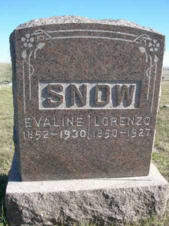 SNOW, EVALINE - Dawes County, Nebraska | EVALINE SNOW - Nebraska Gravestone Photos