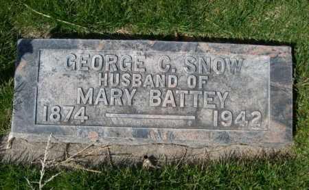 SNOW, GEORGE C. - Dawes County, Nebraska | GEORGE C. SNOW - Nebraska Gravestone Photos