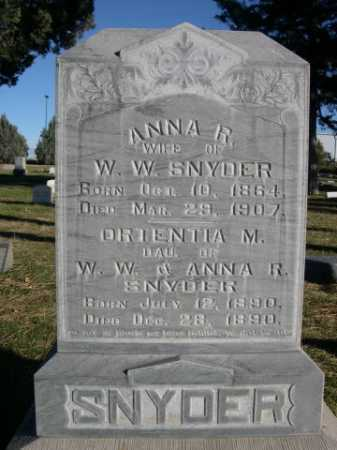 SNYDER, ORIENTIA M. - Dawes County, Nebraska | ORIENTIA M. SNYDER - Nebraska Gravestone Photos