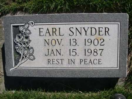 SNYDER, EARL - Dawes County, Nebraska | EARL SNYDER - Nebraska Gravestone Photos
