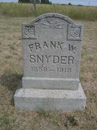 SNYDER, FRANK W. - Dawes County, Nebraska | FRANK W. SNYDER - Nebraska Gravestone Photos