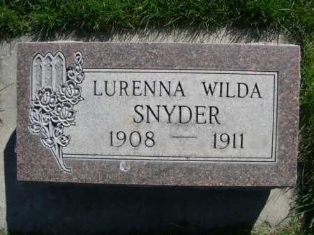 SNYDER, LURENNA WILDA - Dawes County, Nebraska | LURENNA WILDA SNYDER - Nebraska Gravestone Photos