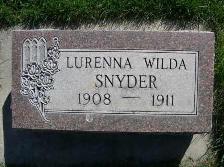SNYDER, LURENNA WILDA - Dawes County, Nebraska | LURENNA WILDA SNYDER - Nebraska Gravestone Photos