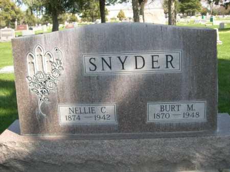 SNYDER, BURT M. - Dawes County, Nebraska | BURT M. SNYDER - Nebraska Gravestone Photos