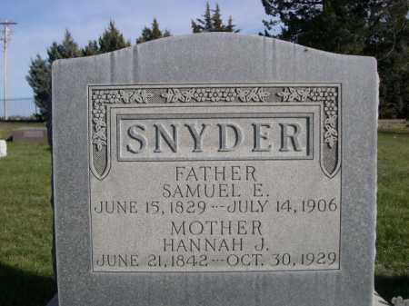SNYDER, HANNAH J. - Dawes County, Nebraska | HANNAH J. SNYDER - Nebraska Gravestone Photos