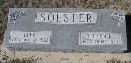 SOESTER, EFFIE - Dawes County, Nebraska | EFFIE SOESTER - Nebraska Gravestone Photos