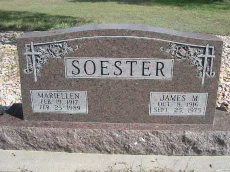 SOESTER, JAMES M. - Dawes County, Nebraska | JAMES M. SOESTER - Nebraska Gravestone Photos