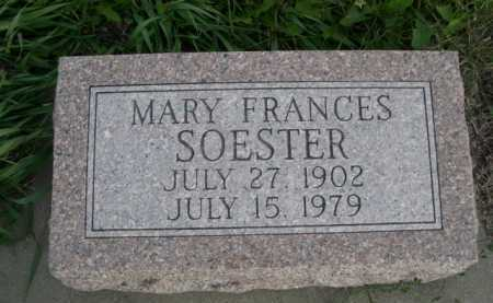 SOESTER, MARY FRANCES - Dawes County, Nebraska | MARY FRANCES SOESTER - Nebraska Gravestone Photos