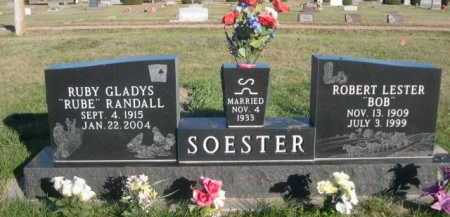 "RANDALL SOESTER, RUBY GLADYS ""RUBE"" - Dawes County, Nebraska | RUBY GLADYS ""RUBE"" RANDALL SOESTER - Nebraska Gravestone Photos"