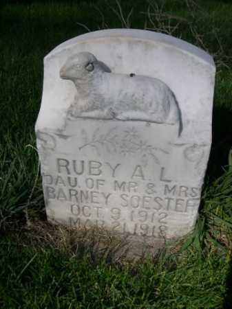 SOESTER, RUBY A. L. - Dawes County, Nebraska | RUBY A. L. SOESTER - Nebraska Gravestone Photos