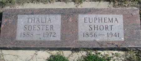 SHORT, EUPHERMA - Dawes County, Nebraska | EUPHERMA SHORT - Nebraska Gravestone Photos