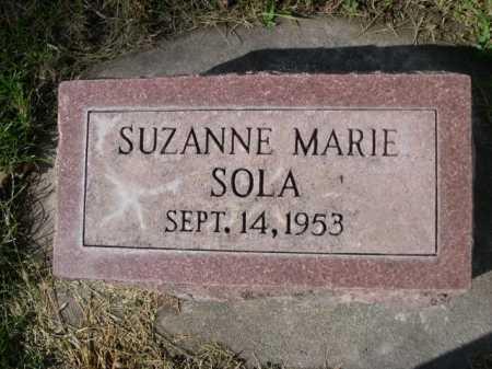 SOLA, SUZANNE MARIE - Dawes County, Nebraska | SUZANNE MARIE SOLA - Nebraska Gravestone Photos