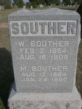 SOUTHER, M. - Dawes County, Nebraska | M. SOUTHER - Nebraska Gravestone Photos