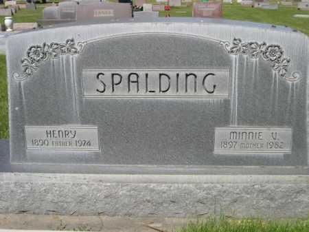 SPALDING, MINNIE V. - Dawes County, Nebraska | MINNIE V. SPALDING - Nebraska Gravestone Photos