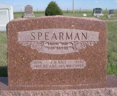 SPEARMAN, GRANT - Dawes County, Nebraska | GRANT SPEARMAN - Nebraska Gravestone Photos