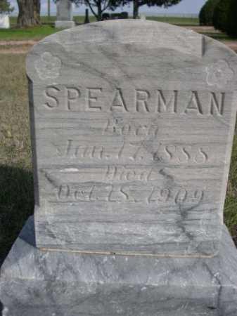 SPEARMAN, MR. - Dawes County, Nebraska   MR. SPEARMAN - Nebraska Gravestone Photos