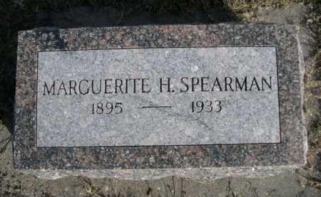 SPEARMAN, MARGUERITE H. - Dawes County, Nebraska   MARGUERITE H. SPEARMAN - Nebraska Gravestone Photos