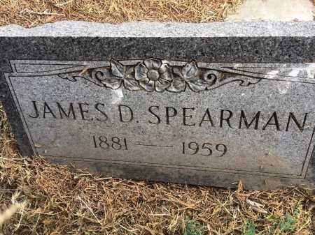 SPEARMAN, JAMES D. - Dawes County, Nebraska | JAMES D. SPEARMAN - Nebraska Gravestone Photos