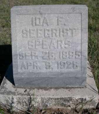 SEEGRIST SPEARS, IDA F. - Dawes County, Nebraska | IDA F. SEEGRIST SPEARS - Nebraska Gravestone Photos