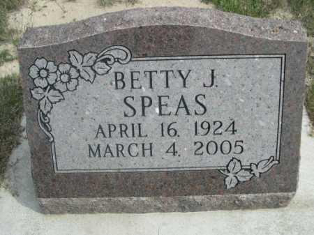 SPEAS, BETTY J. - Dawes County, Nebraska | BETTY J. SPEAS - Nebraska Gravestone Photos