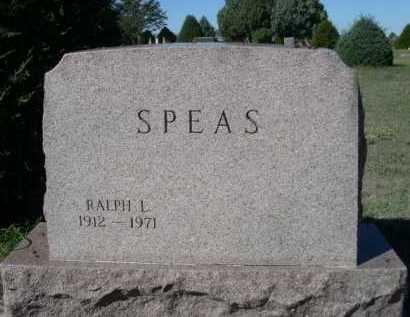 SPEAS, RALPH L. - Dawes County, Nebraska | RALPH L. SPEAS - Nebraska Gravestone Photos